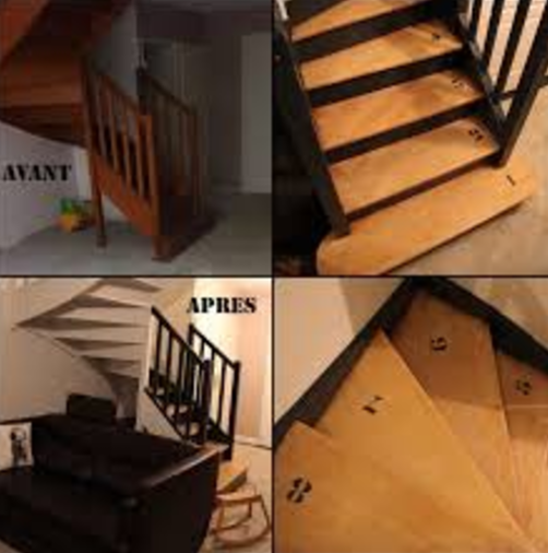 R Alisation Cage Escalier Style Peinture Artisan